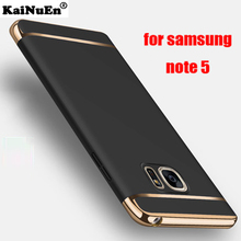 kainuen Luxury Shockproof Armor hard plastic back coque cover case for samsung galaxy note 5 note5 phone cases accessories