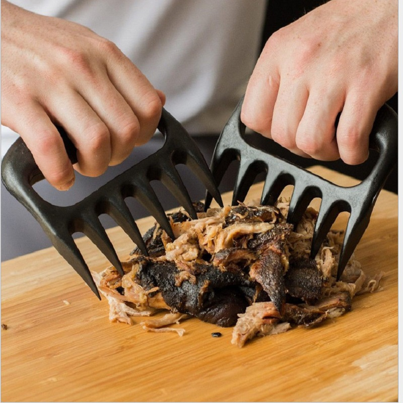 1Pair-Black-Grizzly-Bear-Paws-Claws-Meat-Handler-Fork-Tongs-Lift-Shred-Pork-BBQ-Barbecue-Tool (3)
