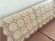 Three-dimensional Hand Crochet Flower Cotton Tablecloths Rectangular Table cloth Cover towel Sofa Cover cloth Home textile(China)