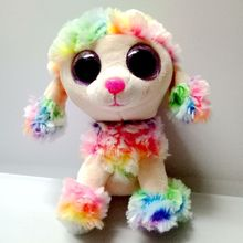 TY Beanie Boos Rainbow Dog Reg, Smal 6inch Big Eyes Beanie Baby Plush Stuffed Doll Toy Collectible Soft Plush Toys Kids(China)