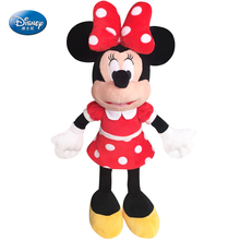 Genuine Disney Mickey Mouse and Minnie Mouse Plush Doll Toys Baby Stuffed Mickey Toys for Children Birthday Christmas Gift(China)