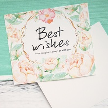 50pcs Mini best wishes Card water color style card leave message cards Lucky Love valentine Christmas Party Invitation Letter(China)