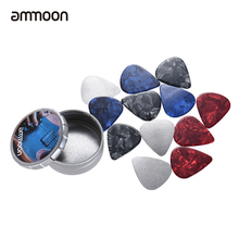 ammoon Guitar Picks 3 Sets for option Electric Guitar Guitarra Celluloid Picks with Storage Boxes Guitar Parts & Accessories(China)