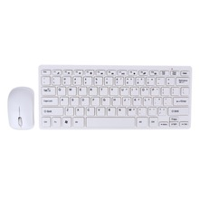 2.4GHz Ultrathin Wireless Desktop/Laptop Keyboard and Mouse With Keyboard Protective Cover for Android Smart TV/NoteBook/Desktop(China)