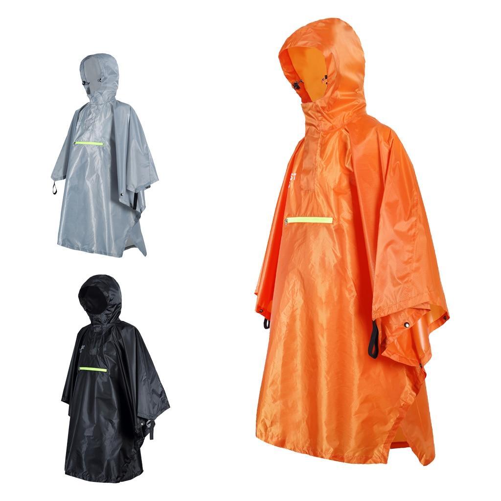 6 PCS Disposable Emergency Rainproof Rain Coat Hooded Cycling Hiking Poncho Coat