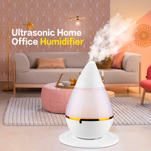 New Mini Ultrasonic Home Office Humidifier Waterdrop LED Light Air Diffuser Purifier Atomizer USB Power Aroma Air Moist Moisture(China)