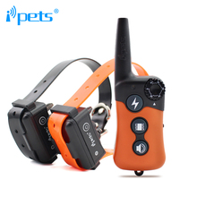 Ipets PET619-2 330m Rechargeable&Waterproof Dog Training Collar -Vibration/Static Shock/Tone Training Stimulations for All Dogs
