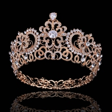 Hot European Silver Golden Royal Crowns Wings Pageant Queen Chic Regal Show Full Round rhinestones CZ Wedding tiaras and crowns