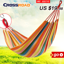 2017NEW 200x100 sigle outdoor canvas camping hammock garden swings for children double indoor hanging chair bed portable rope
