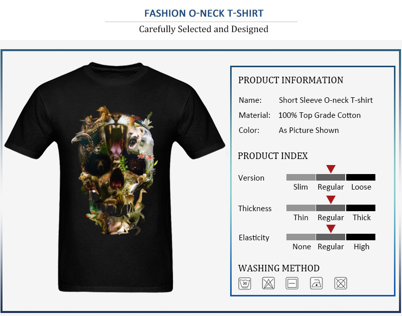 Kingdom Men Discount Summer Tops & Tees O Neck Summer/Autumn 100% Coon Fabric T-Shirt Casual Short Sleeve Tee Shirt Kingdom