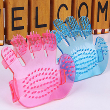 New Pet Rubber Comb Grooming Massage Brush Hand Strap Shower