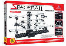 New Space Raill, Funny Model Building Kit, Roller Coaster Toys, SpaceRail Level 2, DIY Spacewarp Erector Set, 233-2, 5500mm Rail(China)