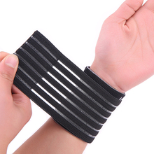 Nylon and spandex material black adjustable breathable elastic wrist support free shipping #ST6825(China)