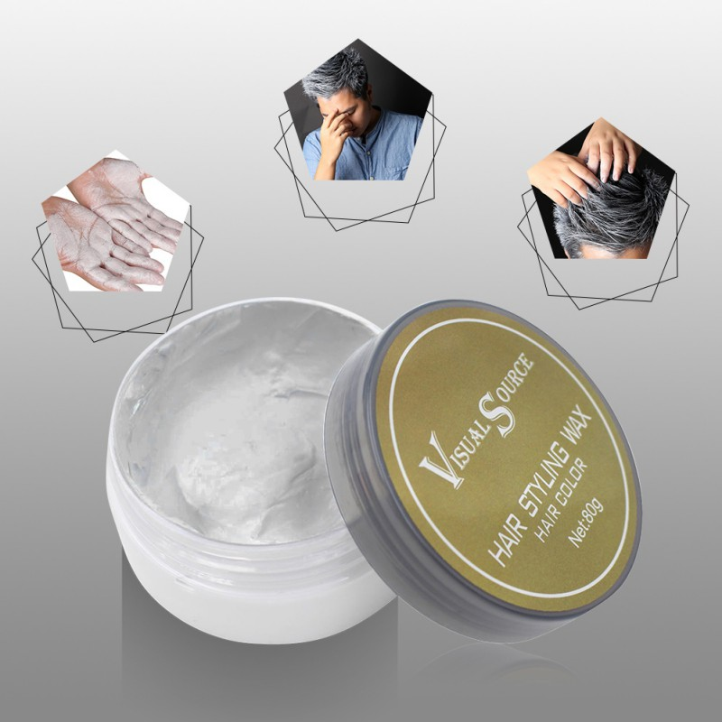 Professional Dynamic Modeling Hair Wax Makeup 5 Colors Hair Dye Wax Hair Color One-time Molding Paste Color Hair Wax New 2018 19