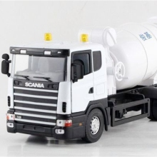 1:43 Scania Cement Mixers Transport Vehicle Heavy Truck Alloy Model As Gift For Boy Children