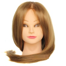 "20"" Golden Hair Mannequin Head Hair Hairdressing Doll Heads Training Manikin Synthetic Hair Manikin Cosmetology Hot Sale"