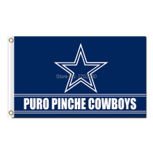 Puro Pinche Banner Dallas Cowboys Flag Custom Your Text Super Team Football Dallas Cowboys Champions Flags(China)