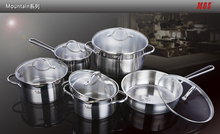 European 304 High-grade Stainless Steel 5 Peices Cooking Pots With Frying Pan Stainless Steel Pot Hot Pot And Pans Cookware Set