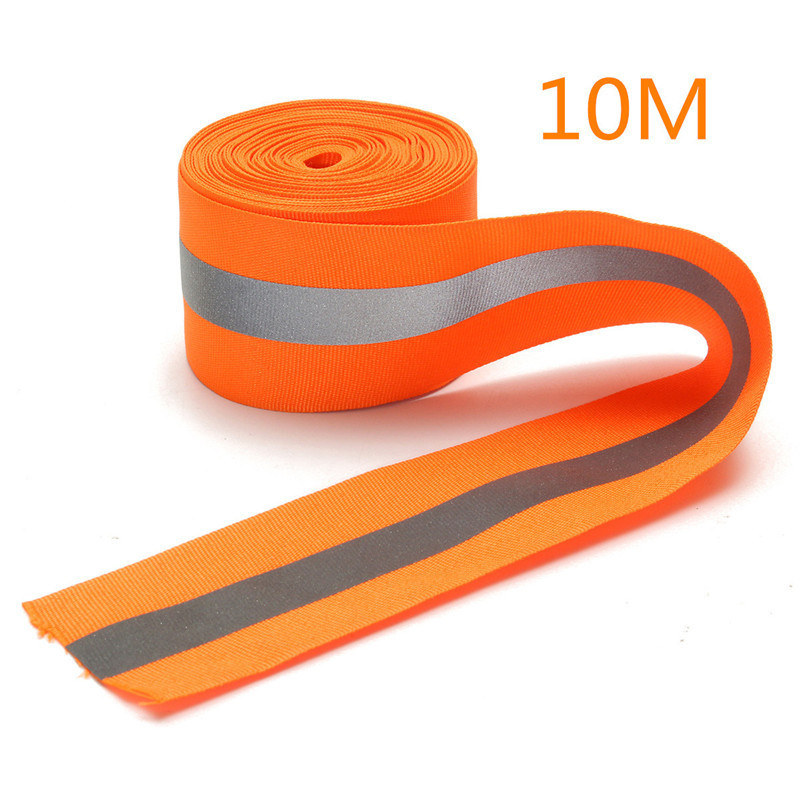 Cost-effective New  Arrival Durable Quality 10M Silver Reflective Tape Strip Sew-On lime Orange Fabric Safty Vest,Width 2<br><br>Aliexpress