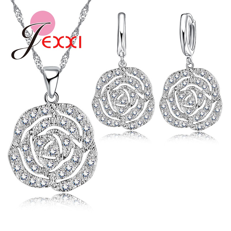 JEXXI-Classic-Rose-White-Women-Jewelry-Sets-Silver-Color-Pendant-Earrings-And-Necklace-Jewelry-Sets-High