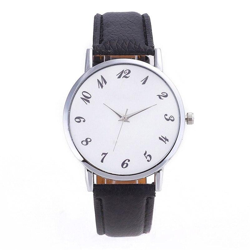2018 High Quality women fashion casual watch luxury dress Beautiful Fashion Simple Watch Leather band Watch Reloj mujer J06#N (7)