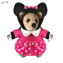 2016 High Quality Winter Warm Dog Coat Stereoscopic Minnie Pet Dog Suit Hoodie Clothes with Cape