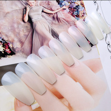 New 500pcs Ballerina Nail Tips Full Coffin Shape French Fake Nail Professional Nail Art Tip Square Style Nature False Nails Tool(China)