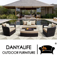 DYSF-D4604 Danyalife Luxury All Weather Outdoor Wicker Sofa Bed