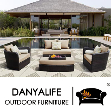 DYSF-D4604 Danyalife Luxury All Weather Outdoor Wicker Sofa Bed(China)
