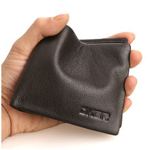 Fashion Genuine Leather Men Wallets Fine Leather Purse Famous Brand  Wallet  Style Carteira D2040