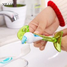 XZJJA 2pcs Bathroom Dispenser Tooth Paste Squeezer Tube Squeezer Easy Squeeze Dispenser Roll Holder Cartoon Animal Fish