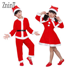 New Year Dress Children Christmas Costume Girls Dress Set Boy Jacket Christmas day props Party for baby clothes suits for girls