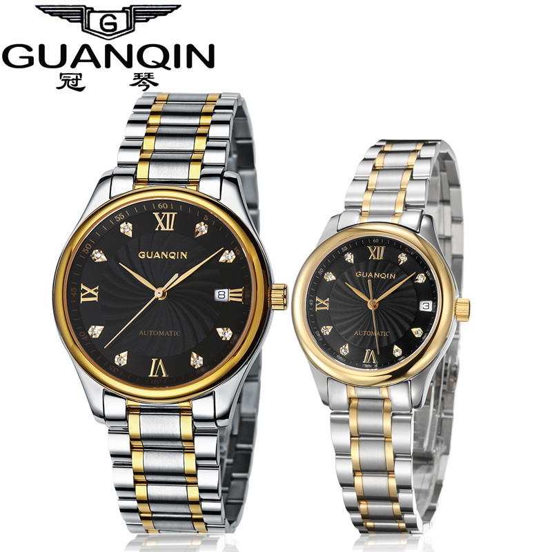 GUANQIN Luxury Lovers Watch Top Brand Women Men Watches Waterproof Sapphire Crystal 316L Stainless Steel Couple Watches 2 Pieces (4)