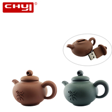 USB Flash Drive Teapot Shaped 8GB 16GB Pendrive 32GB 64GB USB2.0 Memory Stick Data Storage Pen Drive Thumb Drive U disk Gift(China)