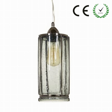 Clear antique glass pendant lamp For Kitchen Lights Cabinet Living dining room Edison Simple Glass Pendant Light Fixture(China)