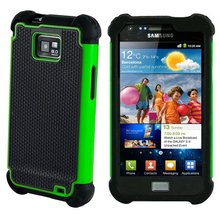 for Samsung Galaxy S2 Plus case GT-i9105 Heavy Duty Armor Shockproof Silicone Cover Hard Case For Samsung S2 Plus Cover Case(China)