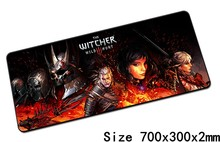 witcher mouse pad best 700x300mm cute gaming mousepad gamer mouse mat High-end pad keyboard computer padmouse laptop play mats(China)