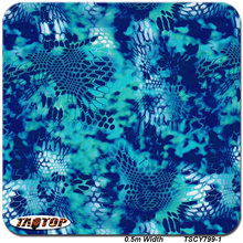 TSAUTOP TSCY799-1  0.5M*10M Blue Pattern Hydro Dipping Water Transfer Printing Liquid Hydro Graphics Films