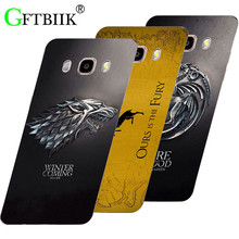 Cartoon Case For Samsung Galaxy J7 2016 J710F J710 Hard Plastic Case Fashion Printed Football Cover Game of Thrones 7