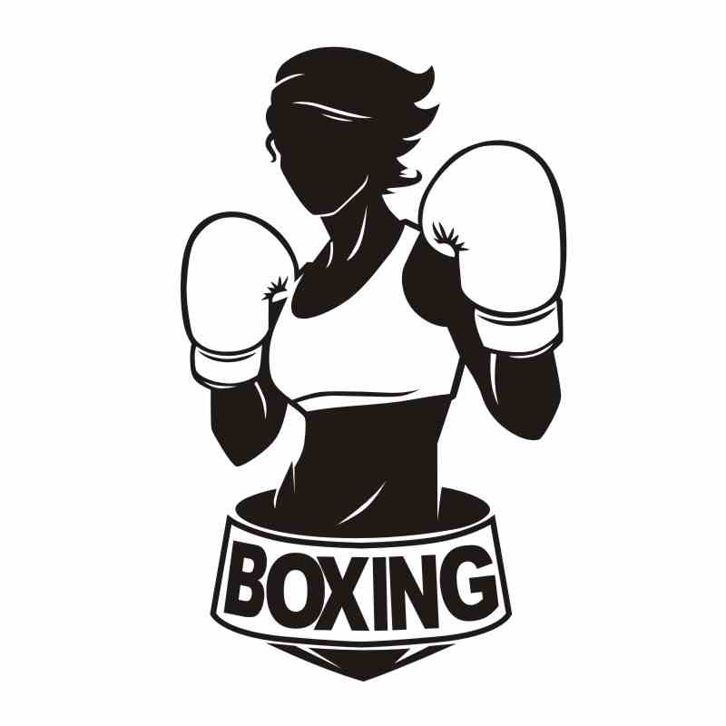 DCTAL Boxing Woman Glove Sticker Kick Boxer Play Car Decal Free Combat Posters Vinyl Striker Wall Decals Parede Decor