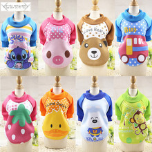Buy 2017 Winter Warm Cartoon Dog Coat Small Dog Clothes Pet Clothing Jacket Soft Fleece Puppy Pet Clothing Hoodie Chihuahua for $2.31 in AliExpress store