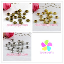 Lucia Crafts SALE! Approx 6mm multi colors options Metal septa alloy loose beads accessories 24pcs/lot 028042047(China)