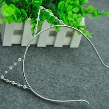 Cat's Ears Headbands Rhinestone Cat Ears Headbands Hair Hoop Accessories Pearl Headdress for Women Party Gift Popular