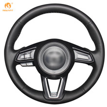 MEWANT Black Artificial Leather Car Steering Wheel Cover for Mazda 3 Axela 2017 CX-5 CX5 2017 Mazda CX-9 2016 2017