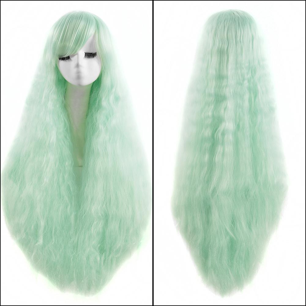 Classic Light Green womens Long Curly Wavy Hair Full Wigs for American African Women synthetic High Temperature Wire Golden Cur<br><br>Aliexpress