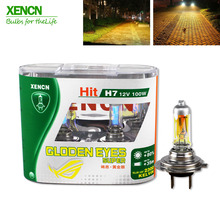 XENCN H7 12V 100W 2300K Golden Eyes Super Xenon Yellow Bright Car Halogen Headlights Off Road Used Car Lighting Source(China)