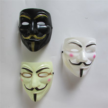 6pcs sell Party Masks V for Vendetta Mask Anonymous Guy Fawkes Fancy Dress Adult Costume Accessory Party Cosplay Masks(China)