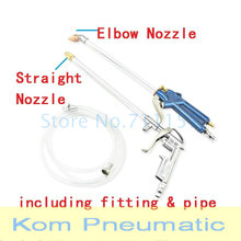 Elbow / Straight Nozzle Aluminum Blowing Dust Gun Washing Spray Guns With Fitting + Pipe Air Compressor Pump Handy Tool