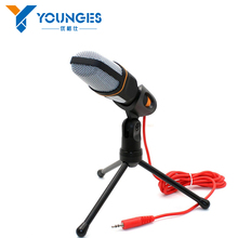 Hot!!! High Quality Professional Condenser Microphone,Mic with Stand for PC Laptop Skype Recording with Windscreen Sponge Sleeve