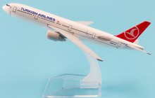 20cm Alloy Metal Air TURKISH Airlines Boeing 777 B777 Airways Plane Model Airplane Model w Stand Aircraft Crafts Gift